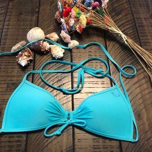 Roxy bikini/ swim suit top size large
